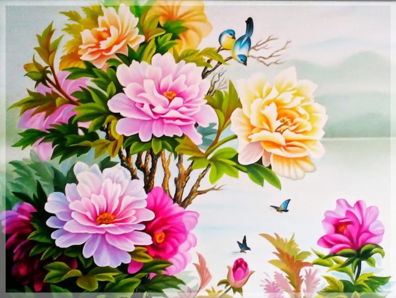 Treo tranh hoa mẫu đơn trong nhà giúp gia chủ có cuộc sống phú quý, giàu sang