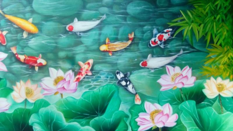 Tranh hoa sen phù hợp nhất với người mệnh Thủy và Mộc