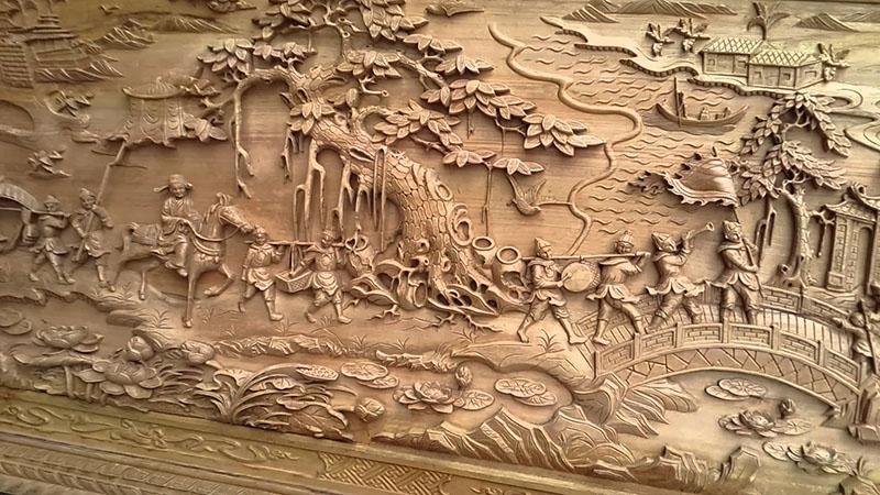 Tranh phù điêu gỗ có giá trị văn hóa lâu đời Artena Decor