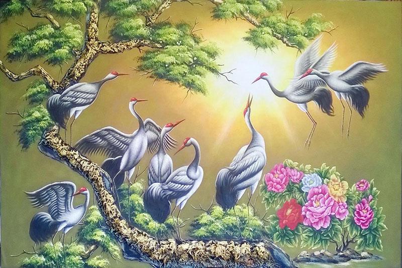 Tranh sơn dầu sử dụng chất liệu vẽ là sơn dầu