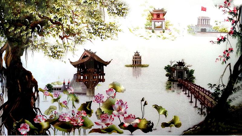 Tranh thêu Việt Nam phát triển mạnh vào thập kỷ 90 của thế kỷ 20
