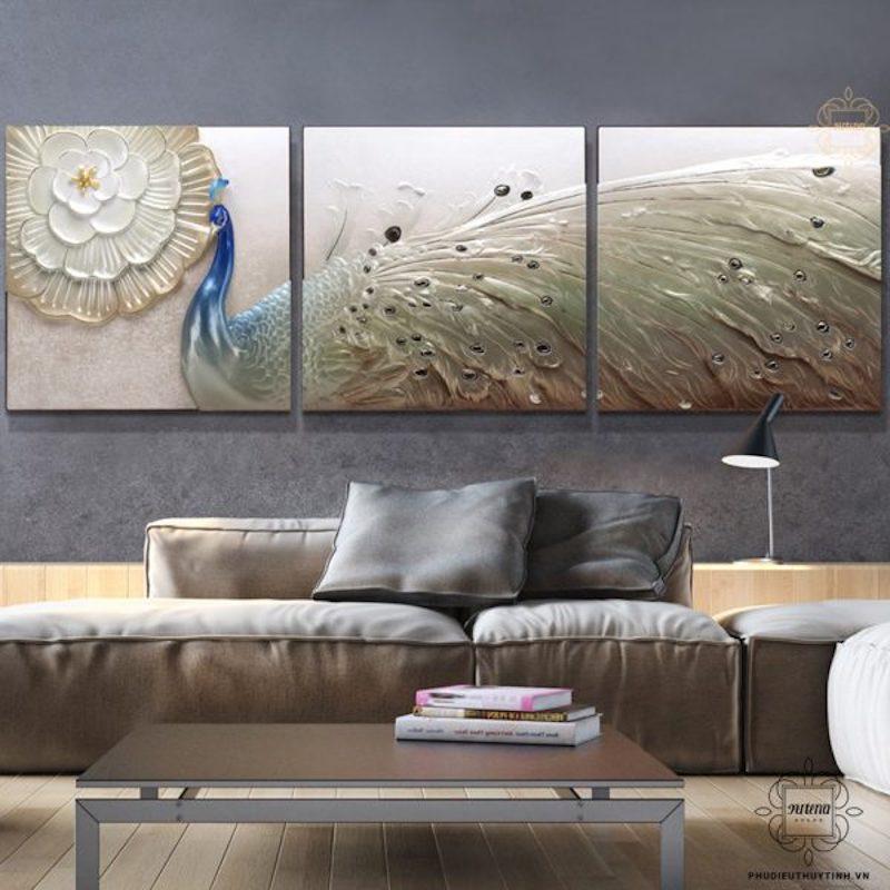 tranh treo tường phòng ngủ nên có những đường nét mềm mại