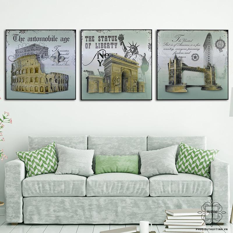 Sự hài hòa sẽ làm tôn lên vẻ đẹp của bức tranh treo tường cổ điển