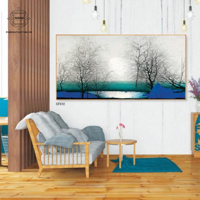 chọn tranh treo tường được phối màu hài hòa nhất với không gian