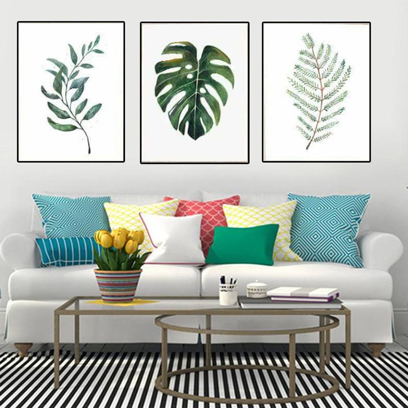 Tranh Canvas lá cây đặc biệt thích hợp với không gian đơn giản, hiện đại