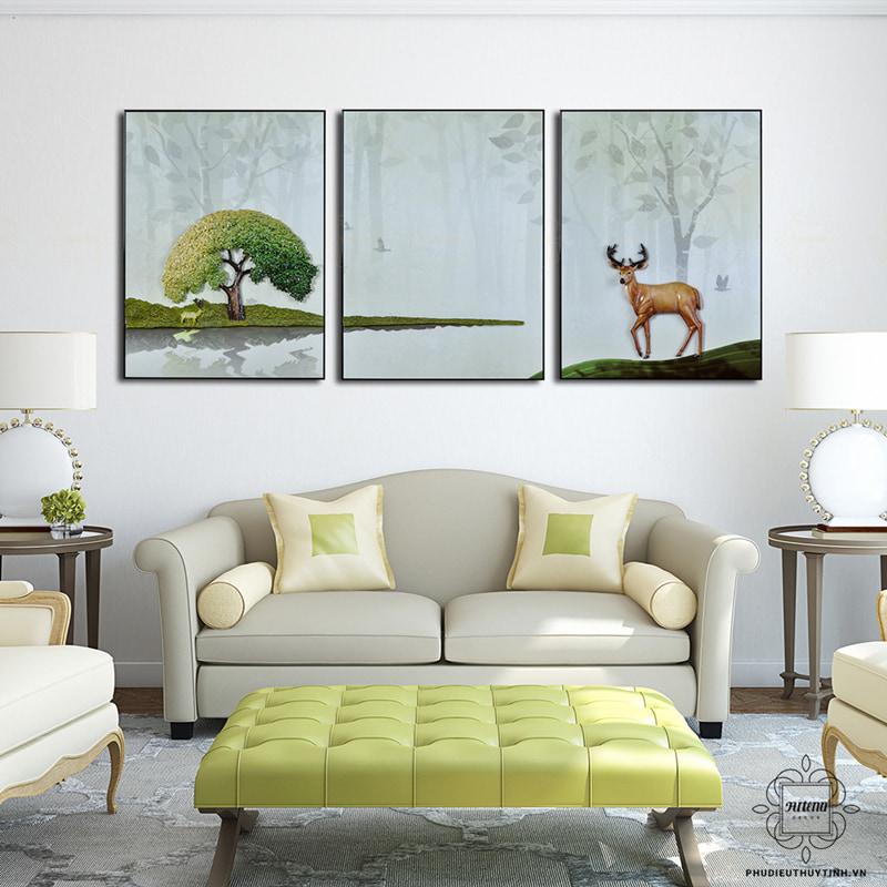 Tùng - hươu là cặp bài trùng trong tranh phong thủy