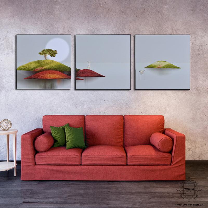 Mẫu tranh Thiên Nhai Minh Nguyệt của Artena Decor