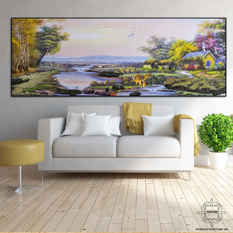tranh treo tường lá cây Chốn Xưa tạo cảm giác thanh bình