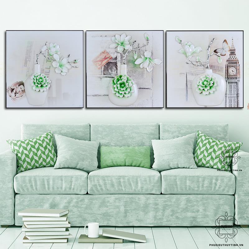Tranh treo tường sang trọng cần có màu sắc hài hòa với không gian