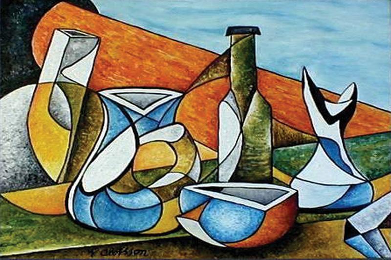 Vật thể trong tranh trừu tượng được giản lược hoặc phóng đại lên tùy thuộc vào cái nhìn của người họa sĩ