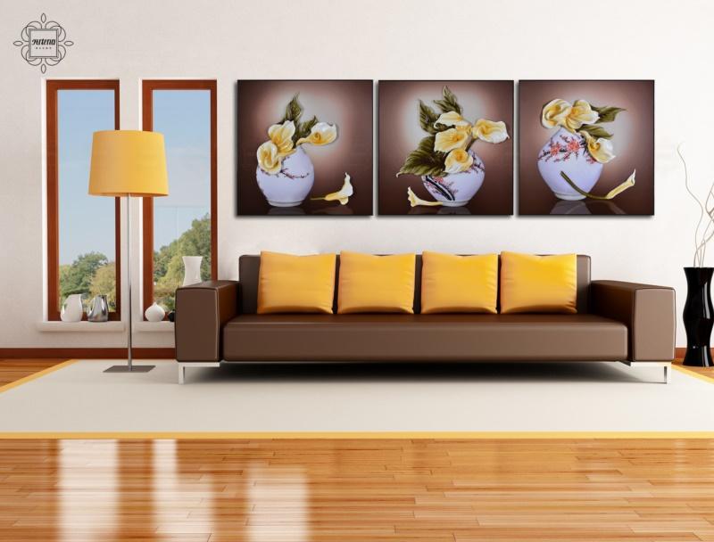Nếu treo một bộ gồm nhiều tranh phù điêu thì các tranh nên cách nhau từ 8-10 cm