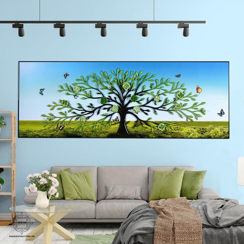 tranh phù điêu cây sinh mệnh tại artena decor