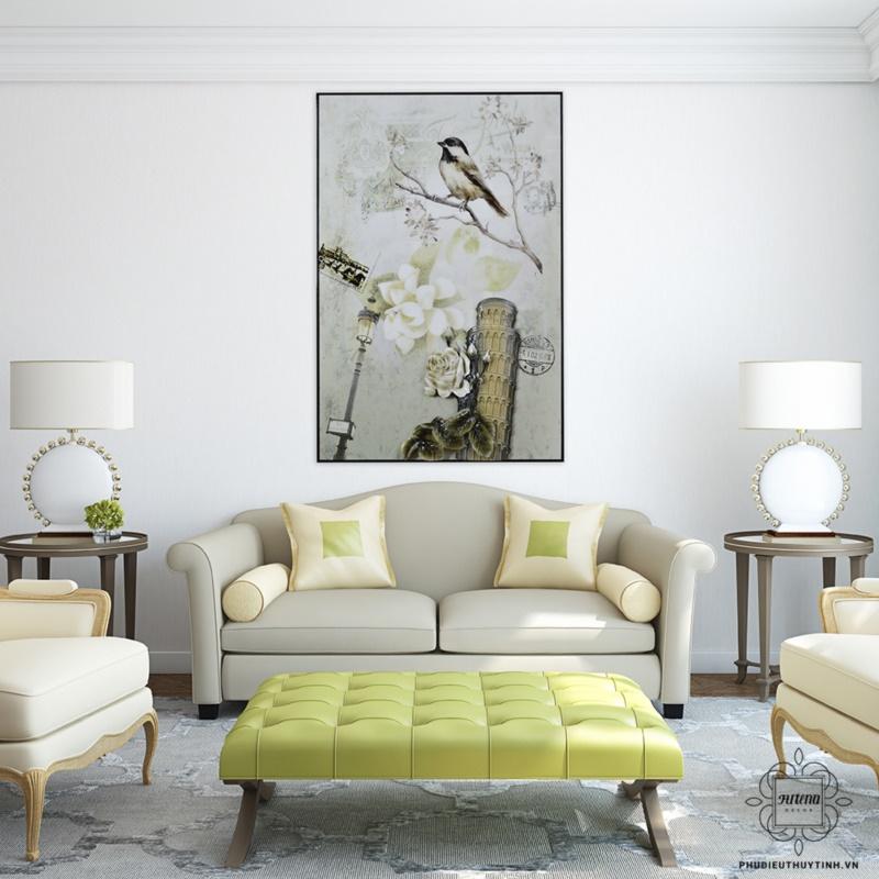 """Tranh treo tường chim hỷ tước với phong cách """"Châu Âu trang nhã"""""""
