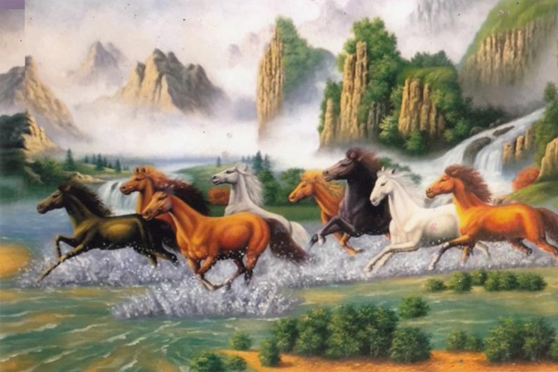 Treo tranh về ngựa trong nhà, công việc sẽ thăng tiến, thuận buồm xuôi gió