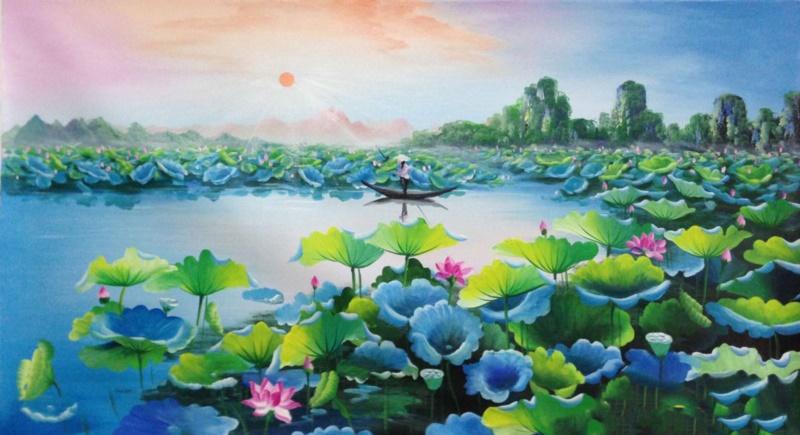 Hoa sen cũng là đặc trưng chủ đạo của nhiều tác phẩm văn chương, thơ ca, hội hoạ