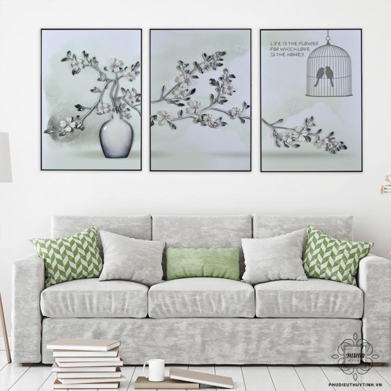 tranh treo tường phòng khách tại hà nội