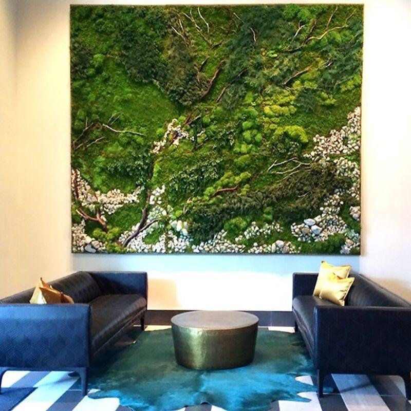 Khung tranh cây treo tường mang lại cảm giác thanh tịnh cho không gian sống