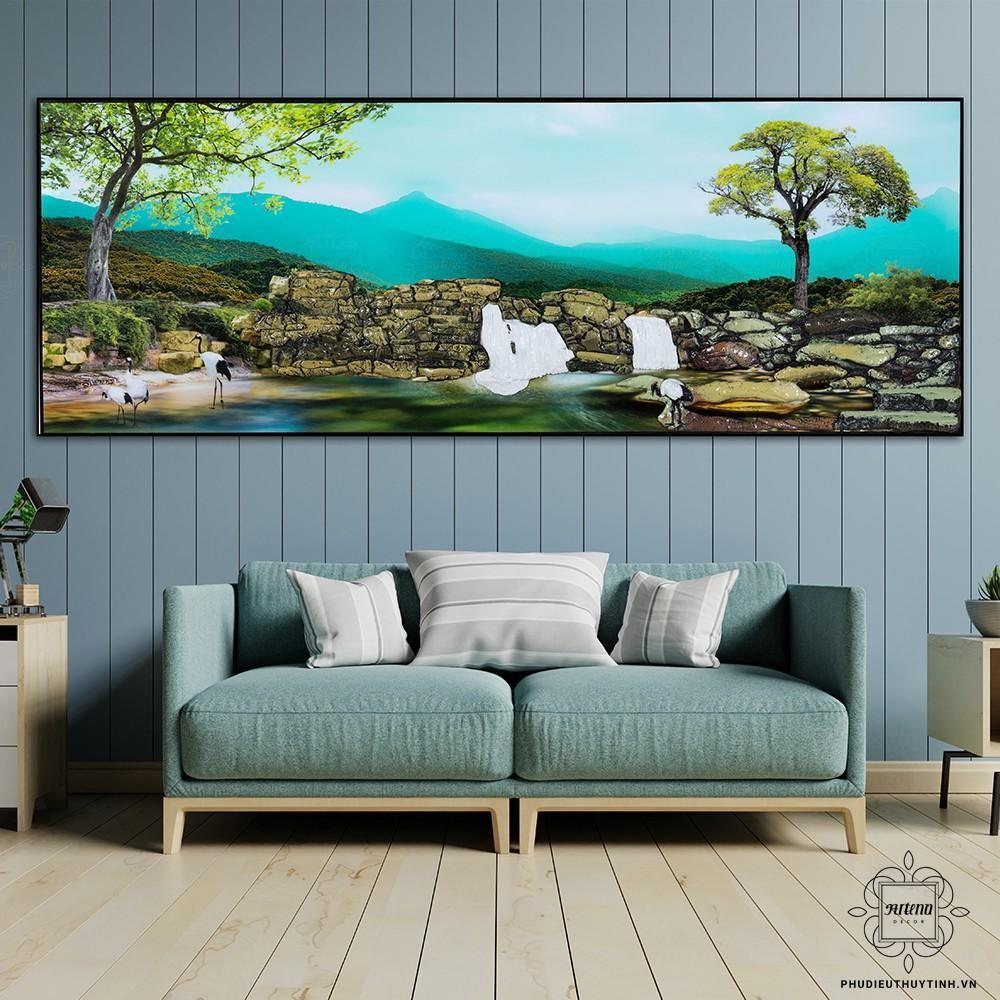 Tranh Thanh Minh khơi gợi một khung cảnh thiên nhiên bình yên, nhẹ nhàng