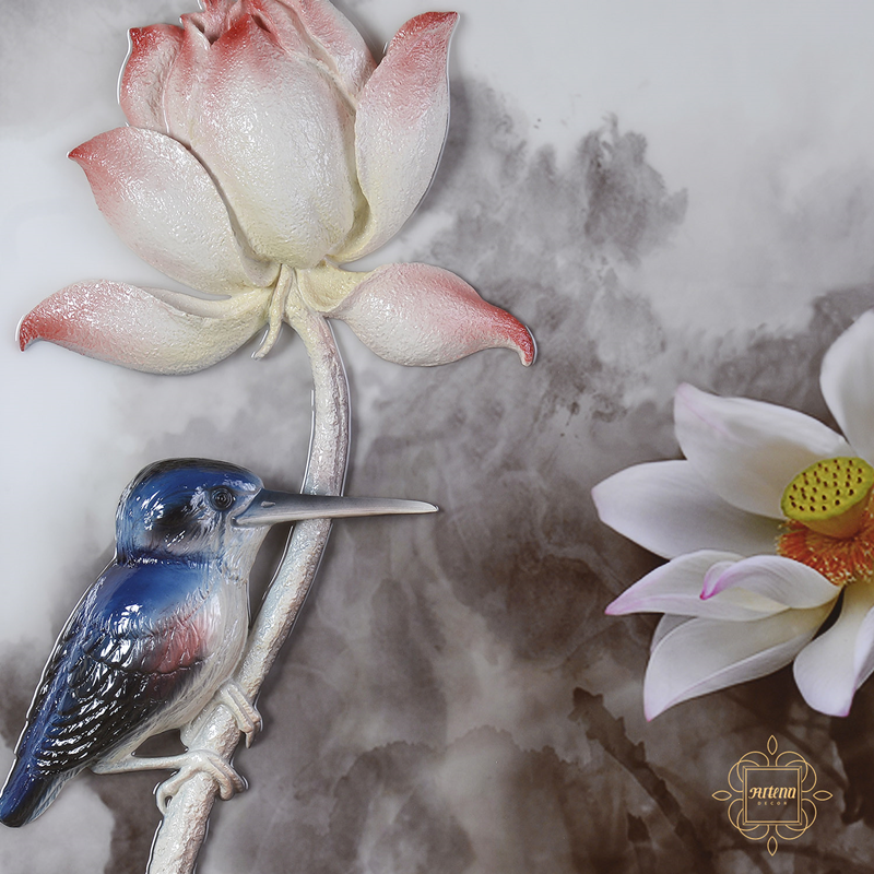 Tranh hoa sen - Món quà ý nghĩa để dành tặng cho những người thân yêu trong dịp 20/10 sắp tới