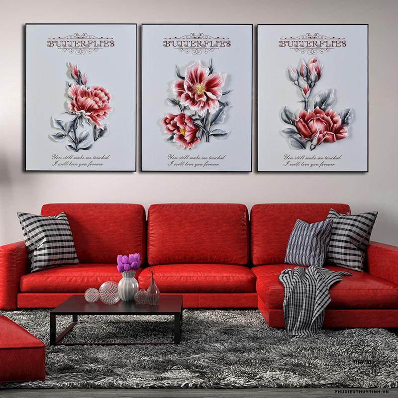 Artena Decor sở hữu nhiều mẫu tranh phù điêu hoa mẫu đơn 3D độc đáo