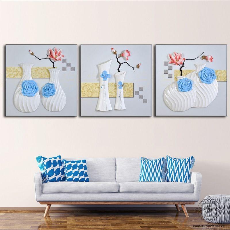 Tranh treo tường tĩnh vật thường là chủ thể quen thuộc của những bức tranh treo tường phòng ăn